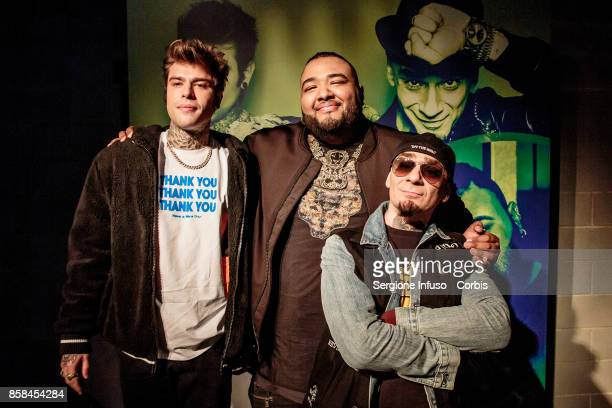 Fedez Sergio Sylvestre and JAx attend Tuborg Open on October 6 2017 in Milan Italy
