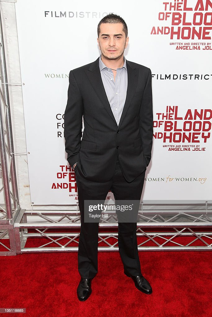 Fedja Stukan attends the premiere of 'In the Land of Blood and Honey' at the School of Visual Arts on December 5, 2011 in New York City.