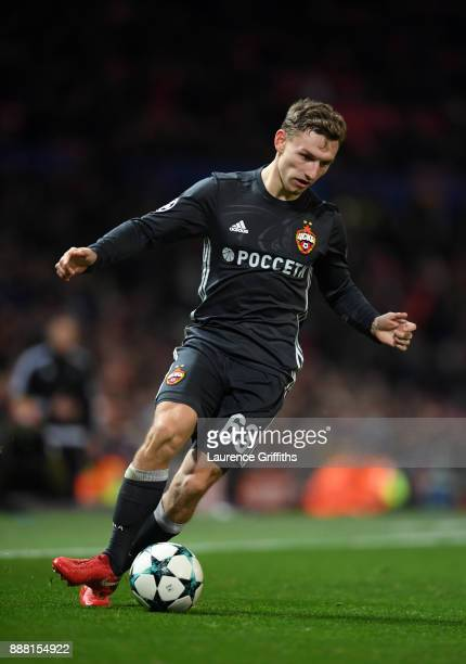 Fedor Chalov of CSKA Moskva runs with the ball during the UEFA Champions League group A match between Manchester United and CSKA Moskva at Old...