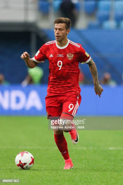 Fedor Smolov of Russia during the Group A FIFA Confederations Cup Russia 2017 match between Russia and New Zealand at Saint Petersburg Stadium on...