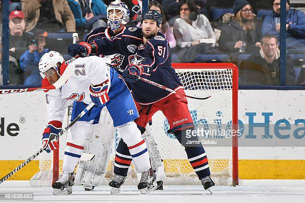Fedor Tyutin of the Columbus Blue Jackets skates against the Montreal Canadiens on February 26 2015 at Nationwide Arena in Columbus Ohio
