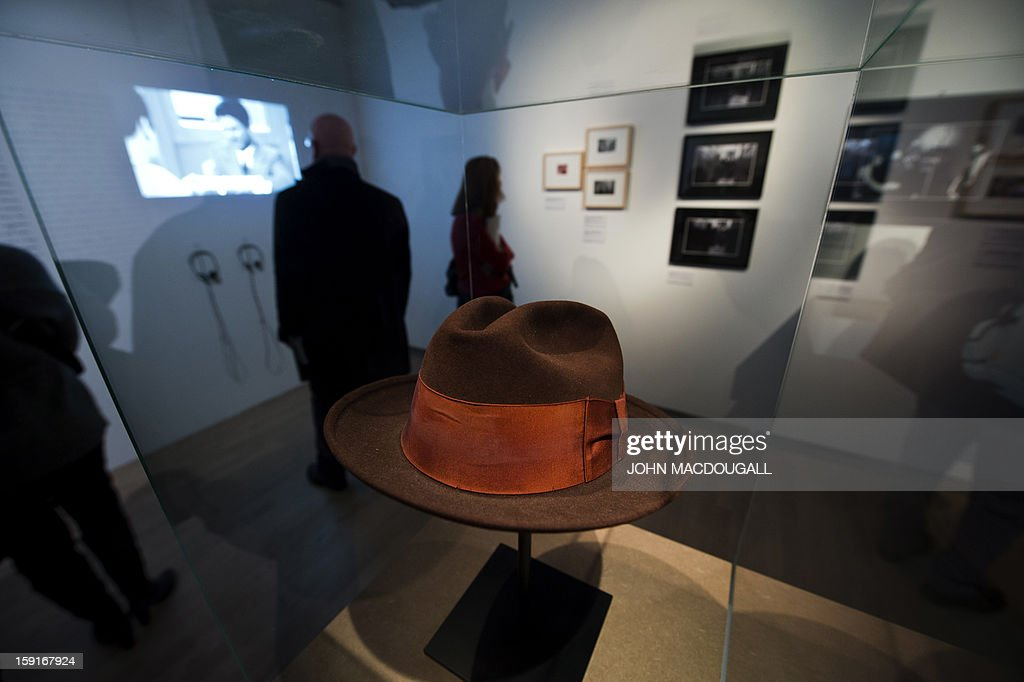 A Fedora hat worn by US actow Robert de Niro in 'Mean Streets' (1973) is on display at the Martin Scorsese exhibition at the Deutsche Kinemathek, Museum for Film and Television in Berlin, Germany on January 9, 2013. The museum opens from January 10 to May 12, 2013 what it calls the first exhibition worldwide dedicated to the work of veteran US film-maker Martin Scorsese, who made his vast archive available for the show. A
