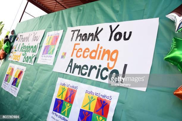 Feeding America's Summer Hunger Awareness event At Para Los Ninos in Los Angeles on June 27 2017 in Los Angeles California