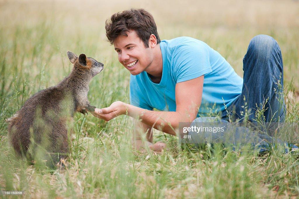 Feeding Kangaroos in the Wild (XXXL)