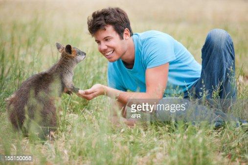 Lactancia Kangaroos salvaje (XXXL