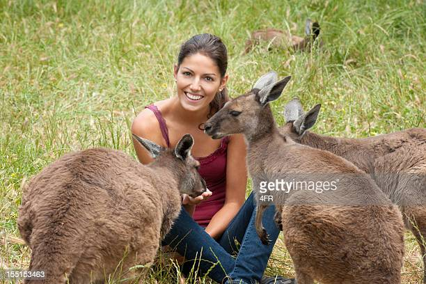 Feeding Kangaroos in the Wild (XXXL)