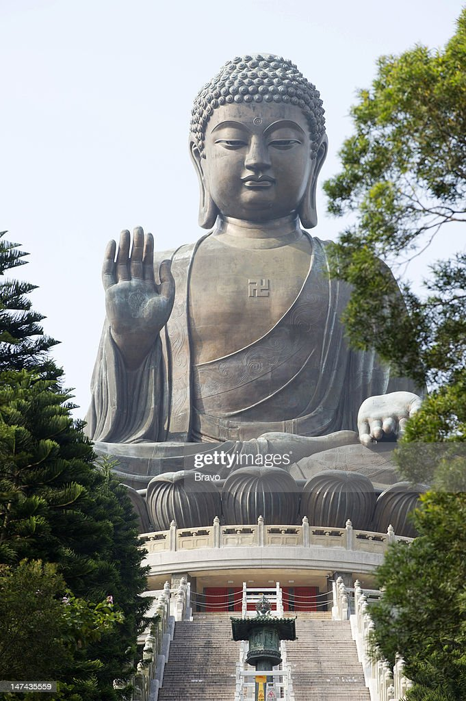 PLATES -- 'Feeding the Demon' Episode 108 -- Pictured: Tian Tan Buddha (Big Buddha) at Ngong Ping on Lantau Island in Hong Kong, China in 2011 --