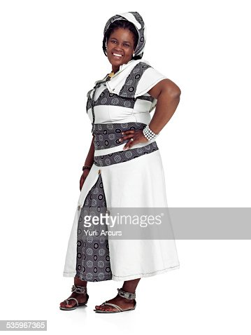 Feeling good about her african style : Stock Photo