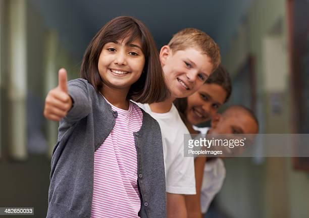 Sich positiv zu Schule