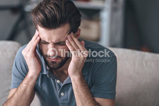 Feeling stressed. : Stock Photo