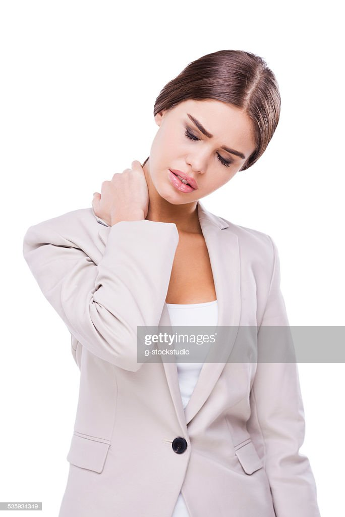 Feeling terrible pain. : Stock Photo