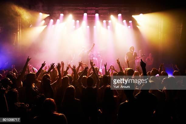 Sentiment de l'ambiance concert