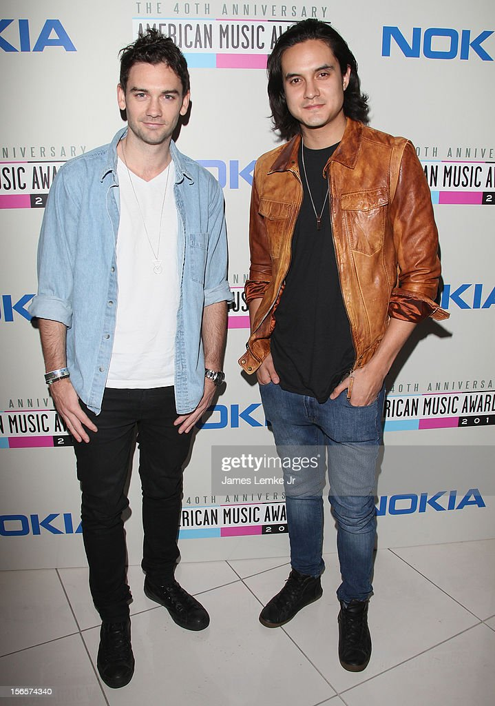 'feenixpawl' Aden Forte and Josh Soon attends the 40th Anniversary American Music Awards Electronic Dance Music Celebration held at the Club Nokia on November 16, 2012 in Los Angeles, California.