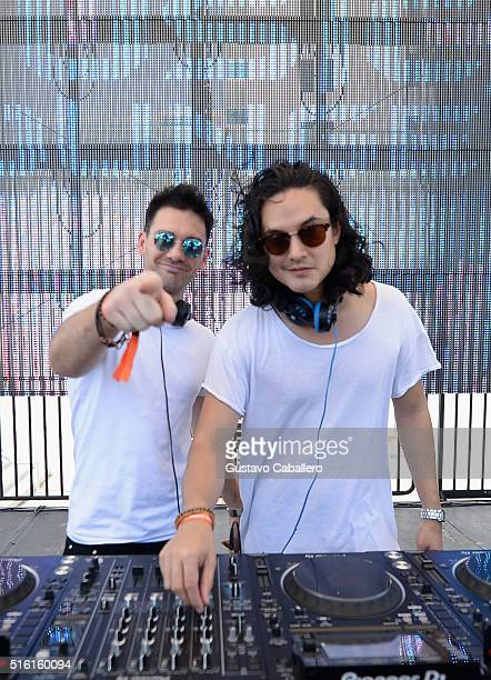 Feenixpawl performs live at SiriusXM Celebrates 10th Anniversary Of The SiriusXM Music Lounge At 1 Hotel South Beach Leading Up To Ultra Music...