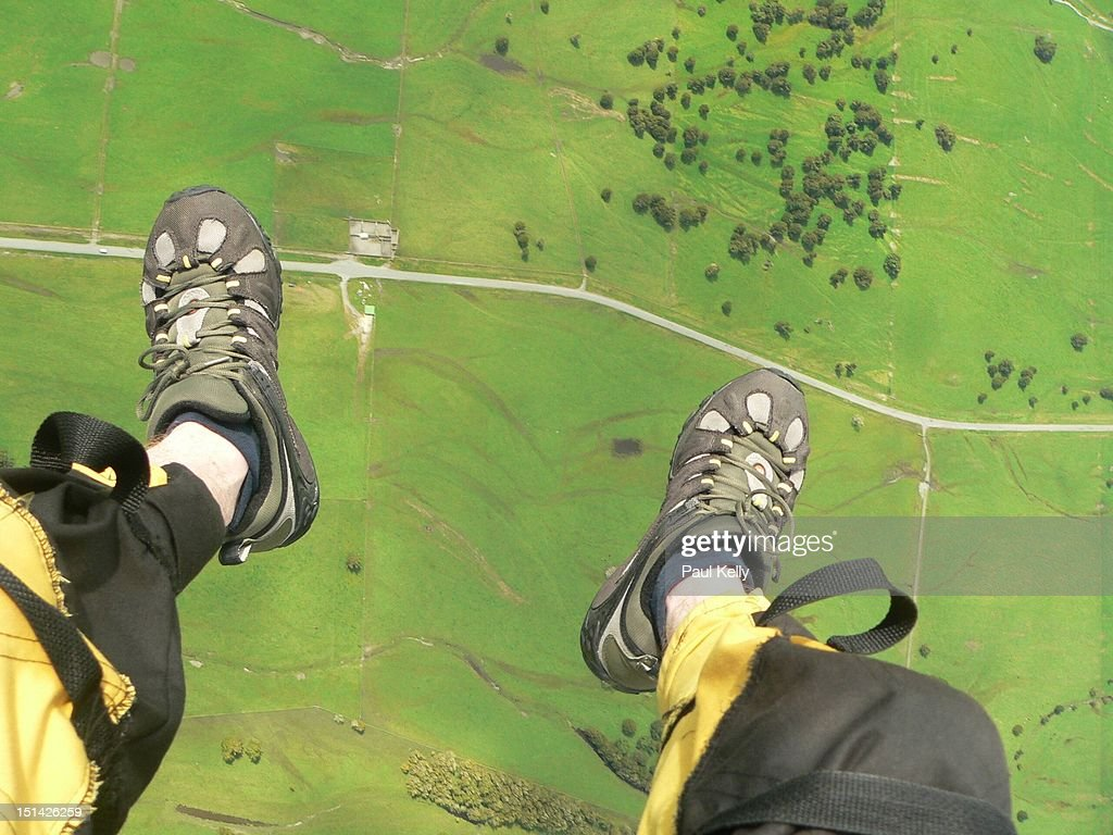Feet and ground : Stock Photo