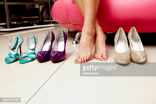 Feet and shoes : Stock Photo