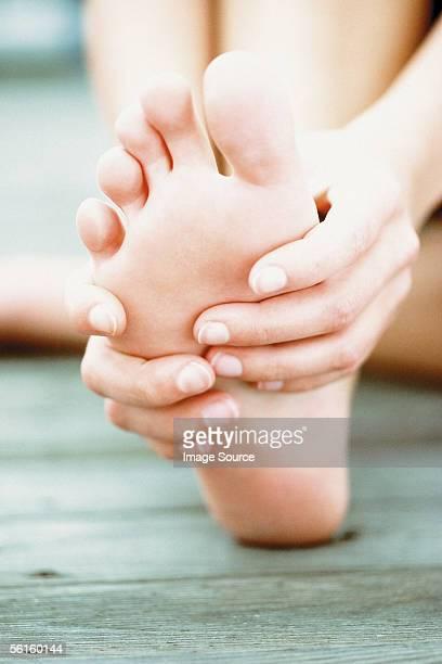 Feet being massaged