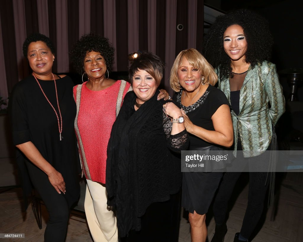 '20 Feet from Stardom' backup singers <a gi-track='captionPersonalityLinkClicked' href=/galleries/search?phrase=Lisa+Fischer&family=editorial&specificpeople=2034470 ng-click='$event.stopPropagation()'>Lisa Fischer</a>, <a gi-track='captionPersonalityLinkClicked' href=/galleries/search?phrase=Merry+Clayton&family=editorial&specificpeople=2536836 ng-click='$event.stopPropagation()'>Merry Clayton</a>, Tata Vega, <a gi-track='captionPersonalityLinkClicked' href=/galleries/search?phrase=Darlene+Love&family=editorial&specificpeople=220743 ng-click='$event.stopPropagation()'>Darlene Love</a>, and <a gi-track='captionPersonalityLinkClicked' href=/galleries/search?phrase=Judith+Hill&family=editorial&specificpeople=5964031 ng-click='$event.stopPropagation()'>Judith Hill</a> attend the 2nd annual Billboard Magazine Power 100 Cocktail Reception at Emerson Theater on January 23, 2014 in Hollywood, California.