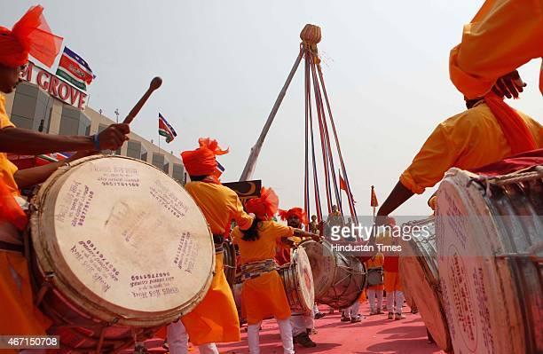 A 100 feet Gudi was erected next to Shivaji's statues where actors Aishwariya Rai and Abhishek Bachchan graced the occasion also performed a small...
