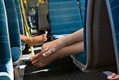 Feet in train