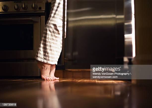 Feet light by fridge light