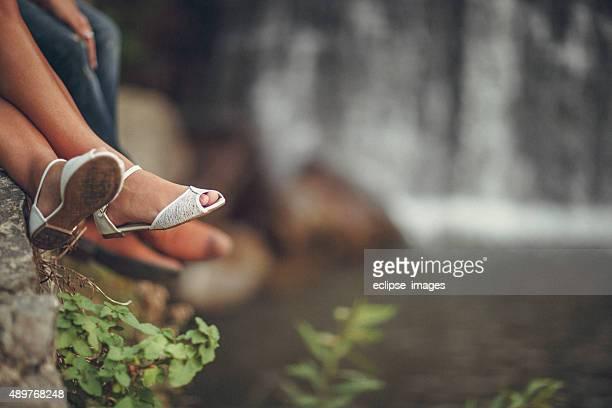Feet of Wedding Couple