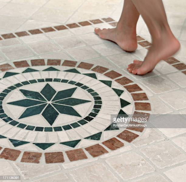 Feet on mosaics