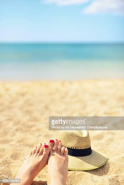 feet selfie on the beah, Fuerteventura