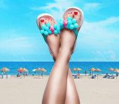Feet up in summertime