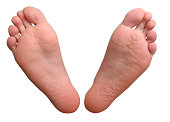 Feet with clipping path