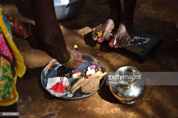 Feet worship ( India)