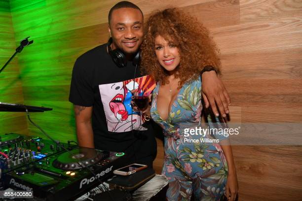 Feezy and Aisha Thalia attend Baller Alert's Bowl With a Baller at Basement Bowl on October 5 2017 in Miami Florida
