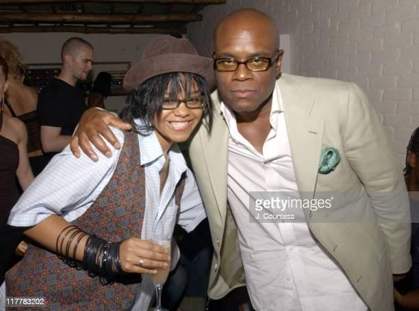 FeFe Dobson and Antonio 'LA' Reid during LA Reid Birthday Celebration Inside at Cipriani's in New York City New York United States