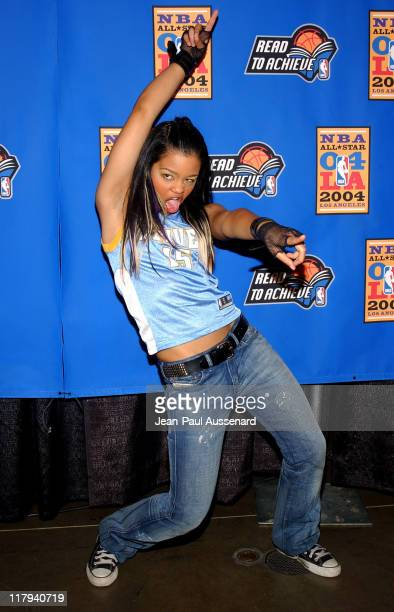 Fefe Dobson during NBA AllStar Read to Achieve Celebration at Staples Center in Los Angeles California United States