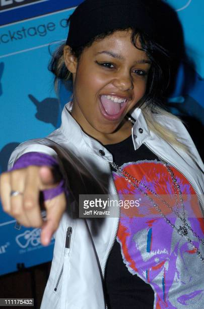 Fefe Dobson during The 46th Annual Grammy Awards Westwood One Backstage at the Grammys Day 1 at Staples Center in Los Angeles California United States