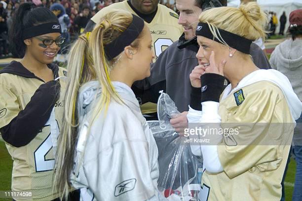 Fefe Dobson Nicole Richie and Tara Reid during Super Bowl XXXVIII MTV's Rock n' Jock at MTV Compound at Reliant Stadium in Houston Texas United States