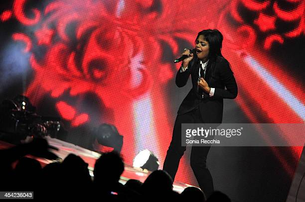Fefe Dobson performs at Much Presents The Big Jingle on December 7 2013 in Toronto Canada
