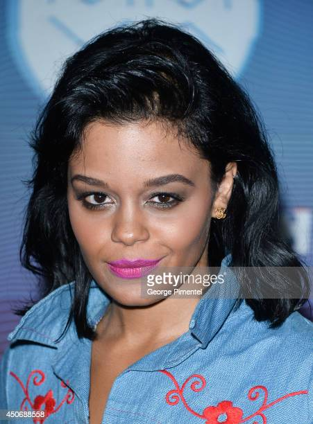 Fefe Dobson poses in the press room at the 2014 MuchMusic Video Awards at MuchMusic HQ on June 15 2014 in Toronto Canada