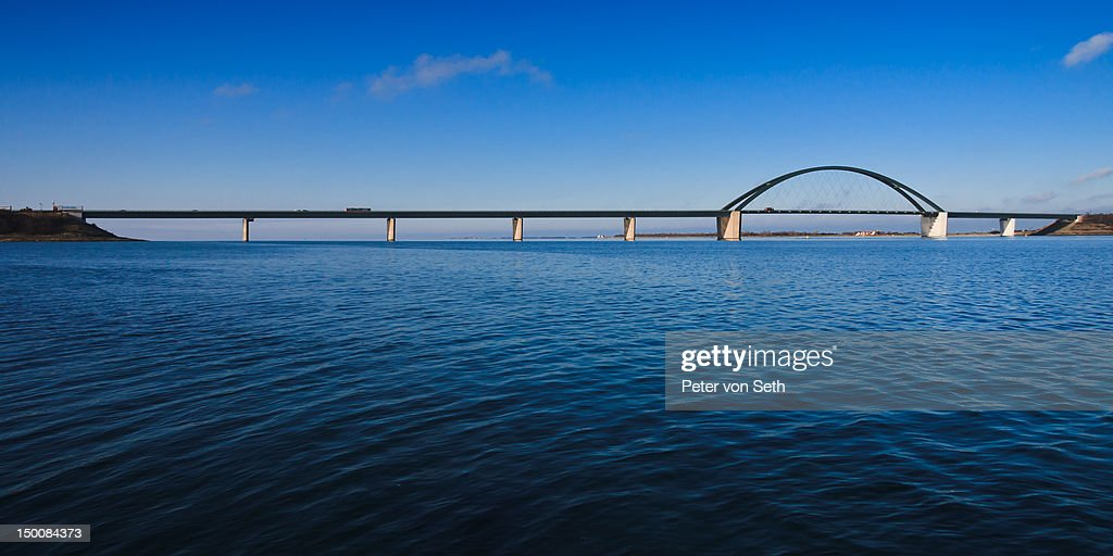 Fehmarn Sound Bridge as panorama picture : Stock-Foto