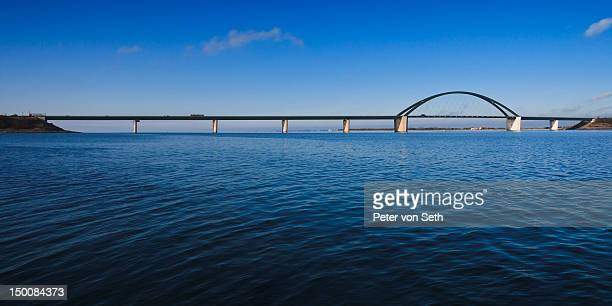 Fehmarn Sound Bridge as panorama picture