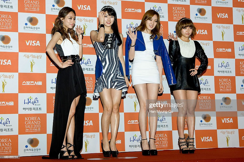 Fei, Suzy, Jia and Min of girl group Miss A attend the 22nd High1 Seoul Music Awards at SK Handball Arena on January 31, 2013 in Seoul, South Korea.