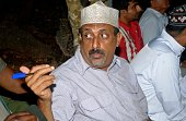 Feisal Mohammed Ali also known as the ivory kingpin looks on at the Mombasa High Court on July 22 2016 during his trail where he faces charges of...