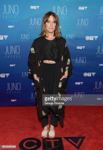 Feist arrives at the 2017 Juno Awards at Canadian Tire Centre on April 2 2017 in Ottawa Canada