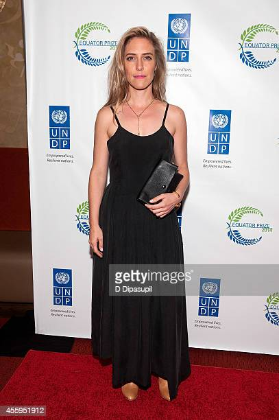 Feist attends the United Nations 2014 Equator Prize Gala at Avery Fisher Hall Lincoln Center on September 22 2014 in New York City