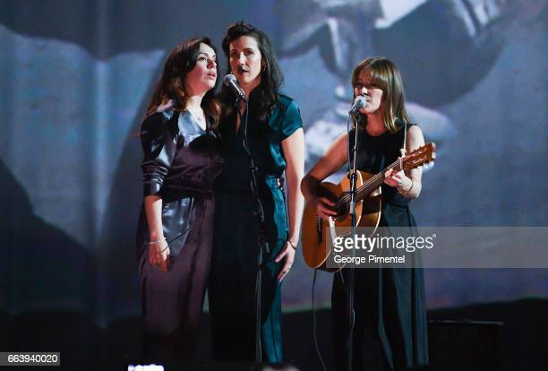 Feist performs at 2017 Juno Awards at Canadian Tire Centre on April 2 2017 in Ottawa Canada