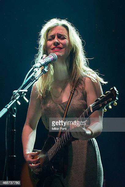 Feist performs at the Cherrytree Records 10th Anniversary at Webster Hall on March 9 2015 in New York City