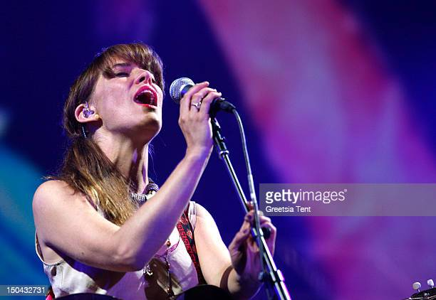Feist performs live at Lowlands Festival on August 17 2012 in Biddinghuizen Netherlands