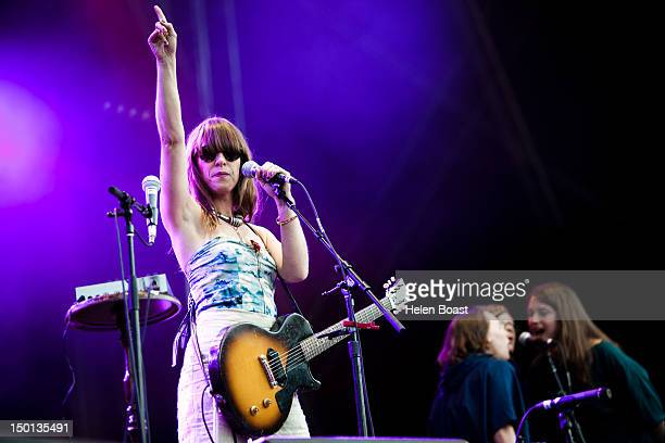 Feist performs on stage during Way Out West on August 10 2012 in Gothenburg Sweden