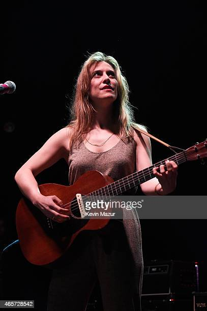 Feist performs onstage at the Cherrytree Records 10th Anniversary at Webster Hall on March 9 2015 in New York City