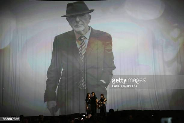 Feist sings a tribute to the late musician Lenoard Cohen during the JUNO awards show at the Canadian Tire Centre in Ottawa Canada April 2 2017 / AFP...